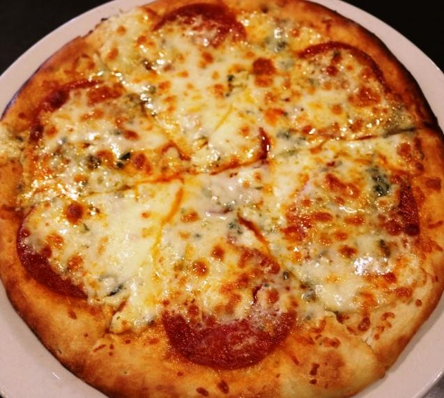 Pepperoni Gorgonzola Pogacha Pizza