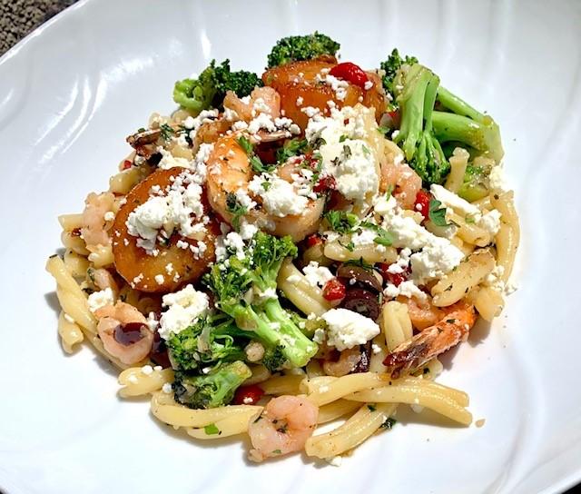 Grecian Seafood Casarecce